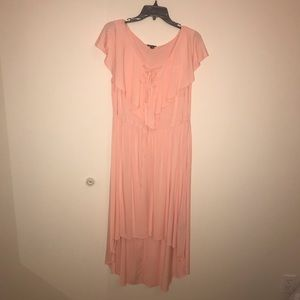 Torrid Peach High-Low Dress